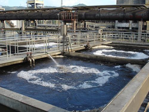 衡水市金都橡胶化工有限公司工厂污水处理现场